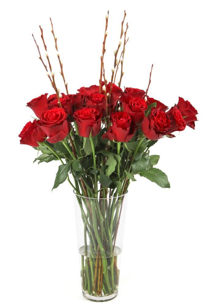 Red Rose Vase (1)