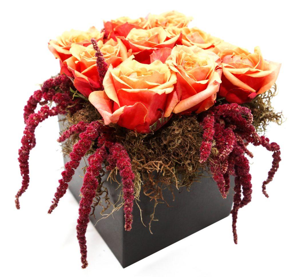 9 roses in box